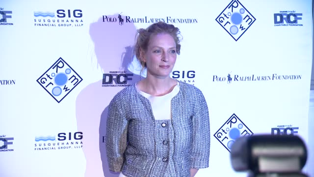 Uma Thurman at 2014 Room To Grow Spring Gala at Capitale on April 8 2014 in New York City