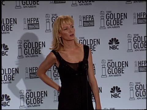 Uma Thurman at the 2003 Golden Globe Awards on January 19 2003