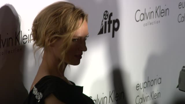 uma thurman at the ifp and calvin klein's tribute to 'woman of cannes' 2011 at the calvin klein party arrivals - 64th annual cannes film festival at... - independent feature project stock videos & royalty-free footage