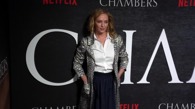 uma thurman at the netflix 'chambers' premiere - netflix stock videos & royalty-free footage