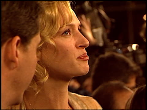 uma thurman at the 'paycheck' premiere at grauman's chinese theatre in hollywood california on december 18 2003 - payslip stock videos & royalty-free footage