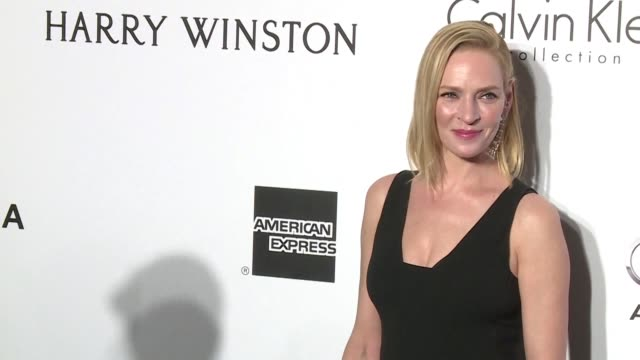 vídeos y material grabado en eventos de stock de uma thurman the actress closely linked with the success of the miramax film studio is the latest hollywood star to accuse its disgraced former chief... - miramax