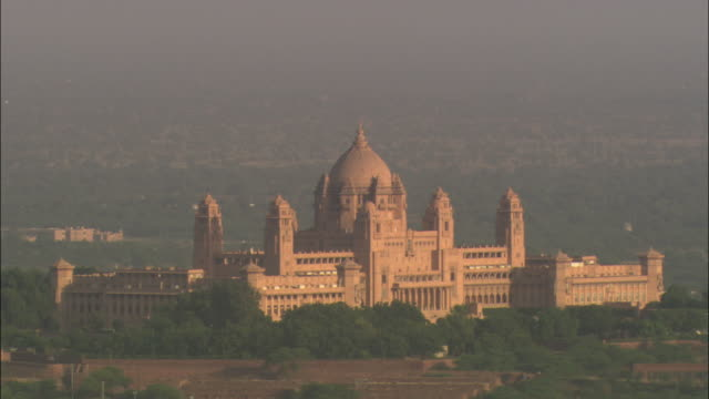 MS, Umaid Bhawan Palace at sunset, Jodhpur, Rajasthan, India
