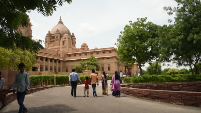 umaid bhawan palace, jodhpur, it is tourist attractions in india. - tradition stock videos & royalty-free footage