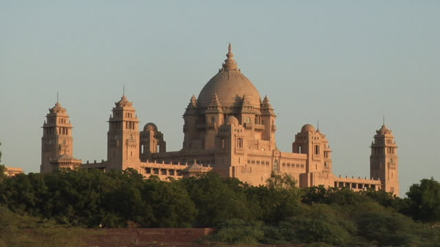 ws, umaid bhawan palace, jodhpur, rajasthan, india - palace stock videos & royalty-free footage