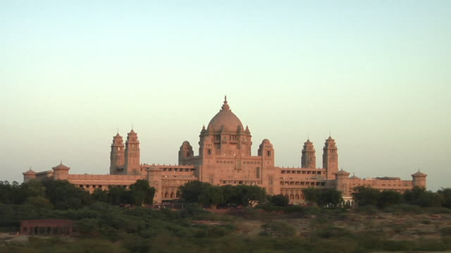 zo, ws, umaid bhawan palace, jodhpur, rajasthan, india - palace stock videos & royalty-free footage