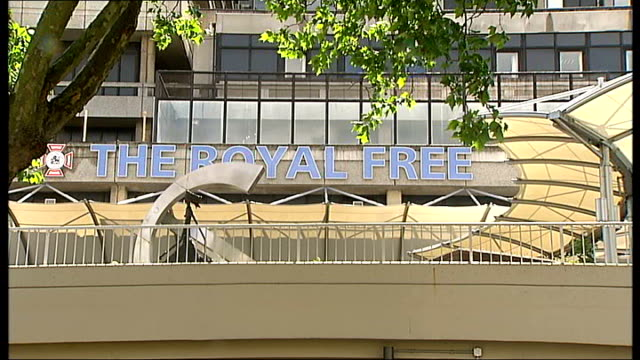 umbilical cord donation saves life of leukaemia sufferer t26051101 royal free hospital the royal free entrance sign outside hospital - female reproductive system stock videos & royalty-free footage