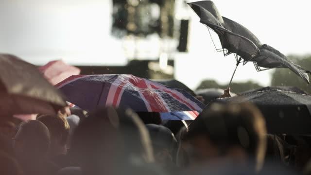 Umbrella's at a festival