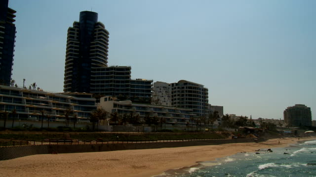 ws umhlanga rocks beach and the sea, durban, south africa - durban stock videos and b-roll footage