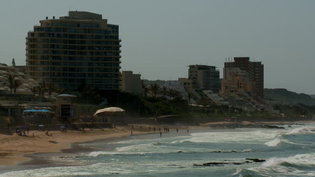 ws umhlanga rocks beach and the sea, durban, south africa - durban stock videos & royalty-free footage