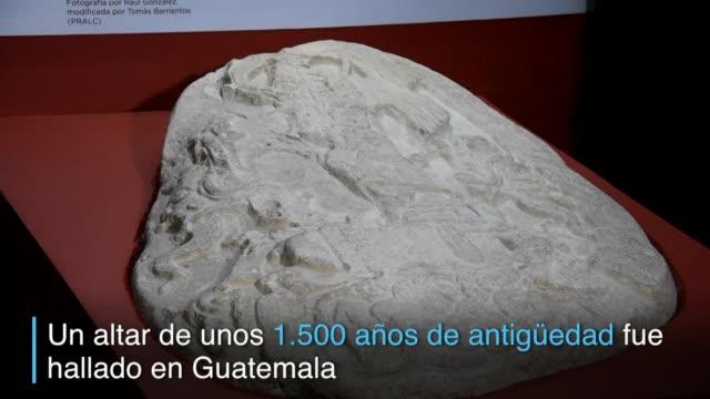 un altar de unos 1500 anos de antiguedad descubierto en un pequeno sitio arqueologico en el norte de guatemala saco a la luz las estrategias... - arqueologia stock videos & royalty-free footage