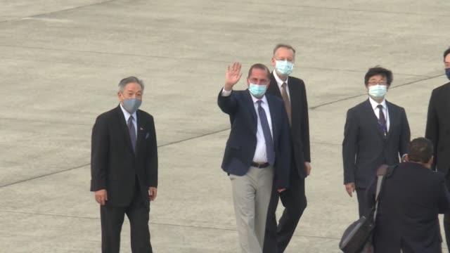 vídeos y material grabado en eventos de stock de un alto cargo estadounidense llegó este domingo a taiwán en una visita que indignó a pekín y que representa la delegación oficial más importante de... - domingo