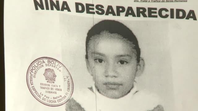 un aumento en el numero de personas desaparecidas voiced contra el trafico humano on september 04 2012 in la paz bolivia - numero stock videos & royalty-free footage