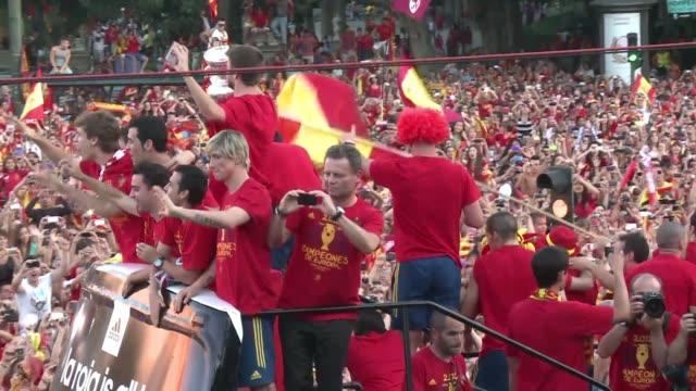 Madrid festeja con la Roja on June 29 2012 in Madrid Spain