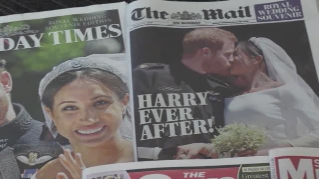 un dia despues de la boda entre el principe enrique y la estadounidense meghan markle la ciudad de windsor se recupera de la agitacion provocada por... - casamento stock videos and b-roll footage
