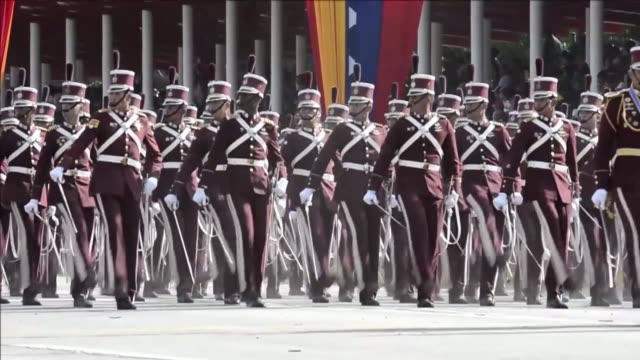 venezuela celebra independencia on july 05 2012 in caracas venezuela - desfile stock videos & royalty-free footage