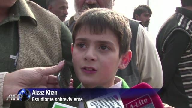 un grupo de talibanes armados irrumpio este martes en una escuela para hijos de militares en pakistan dejando al menos 130 muertos la mayria ninos y... - taliban stock videos & royalty-free footage