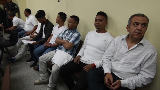 un juzgado hondureno declaro el jueves culpables a siete hombres por el asesinato de la emblematica ambientalista berta caceres incluyendo a un... - hombres stock videos & royalty-free footage