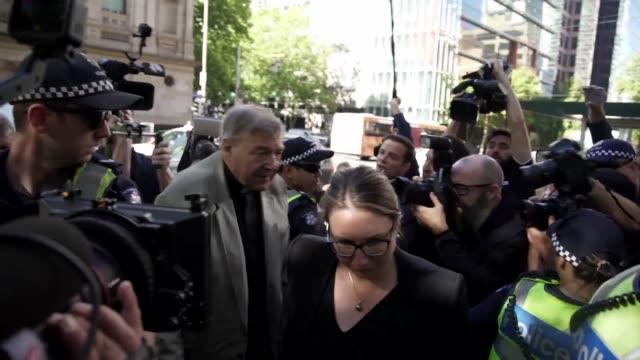 un tribunal ordeno el miercoles poner en detencion al cardenal australiano george pell ex numero tres del vaticano tras ser declarado culpable de... - numero stock videos & royalty-free footage