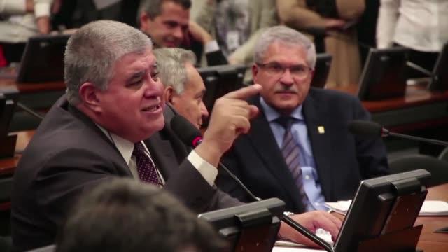 una comision de la camara de diputados de brasil discutia el martes la validacion de la denuncia por corrupcion contra el presidente michel temer que... - acanthaceae stock videos & royalty-free footage