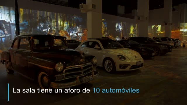 una exposición inmersiva sobre vincent van gogh ahora se puede disfrutar respetando el distanciamiento social y desde el automóvil gracias a una... - canadá stock videos & royalty-free footage