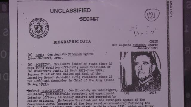 una exposicion de archivos desclasificados de la cia repasa el papel que jugo el gobierno estadounidense de richard nixon en el golpe de estado de... - salvador allende stock videos & royalty-free footage