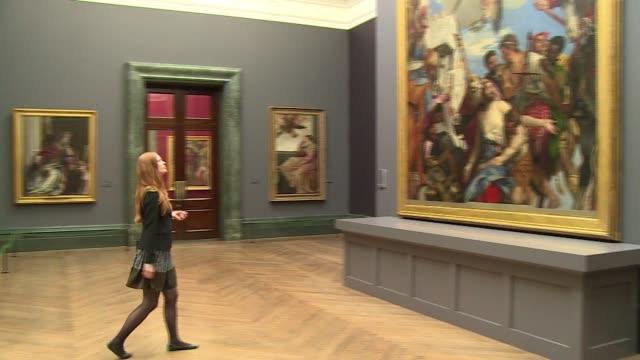 una exposicion del pintor italiano paolo veronese reune obras que nunca se vieron juntas desde su creacion - afp stock videos & royalty-free footage