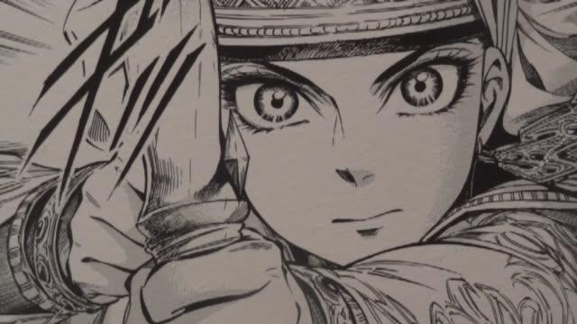 una exposicion en milan recorre los 200 anos de historia del manga japones. voiced : dos siglos de manga on may 05, 2013 in milan, italy - manga style stock videos & royalty-free footage