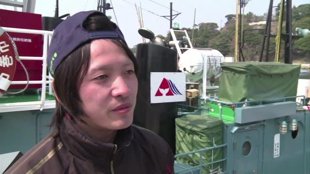 una flotilla ballenera japonesa zarpo el fin de semana para emprender su primera campana de caza costera desde que la corte internacional de justicia... - cetaceo video stock e b–roll