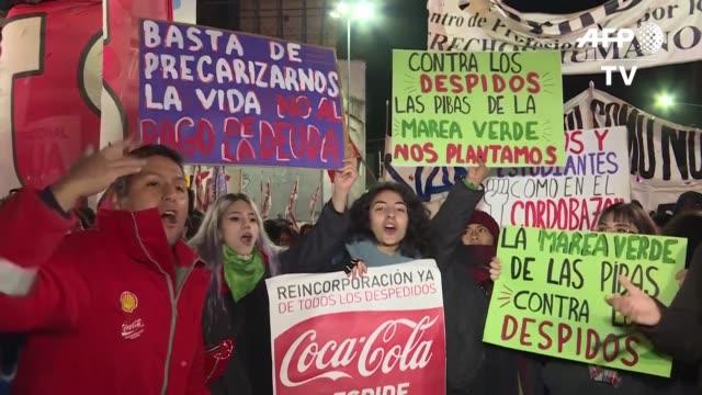una huelga general con paralizacion completa del transporte publico afecta este miercoles al presidente argentino mauricio macri en medio de la... - mauricio macri stock videos and b-roll footage