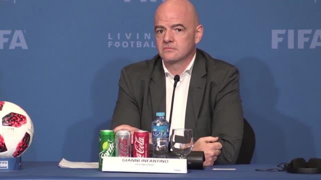 una mayoria de federaciones apoya el proyecto de copa del mundo con 48 participantes en catar 2022 en lugar de los 32 previstos asi lo afirmo el... - fifa bildbanksvideor och videomaterial från bakom kulisserna