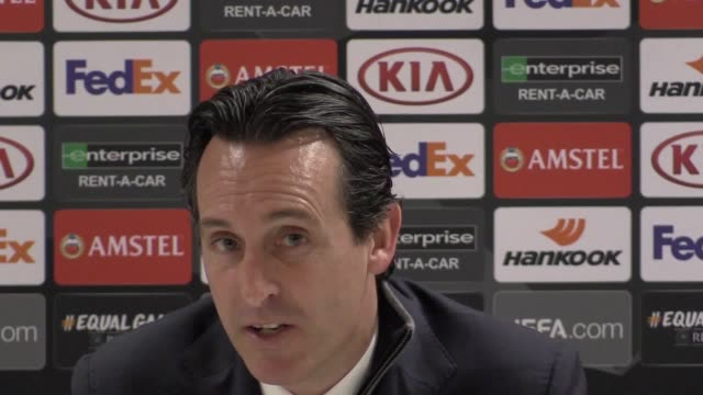 Unai Emery discusses the possibility of winning the competition Ozil's performance in the match and Matteo Guendouzi's development in the team
