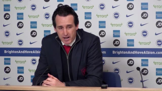 Unai Emery says not enough chances were created while reflecting on Arsenal's performance against Brighto at Falmer Stadium where they drew 11