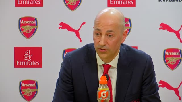press conference ENGLAND London Emirates Stadium INT Unai Emery and Ivan Gazidis press conference SOT