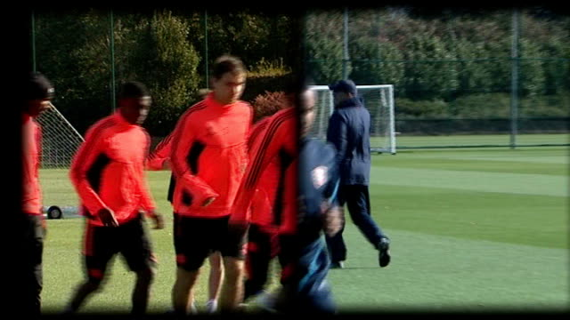 uncertainty over key arsenal and chelsea players surrey cobham / hertfordshire london colney chelsea and arsenal players training - cobham surrey stock videos and b-roll footage