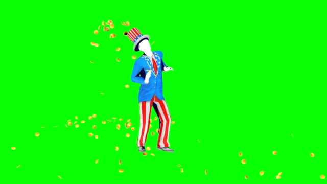 uncle sam dancing - uncle sam stock videos & royalty-free footage