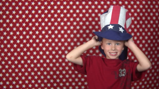 uncle sam hat pull down - uncle sam stock videos & royalty-free footage