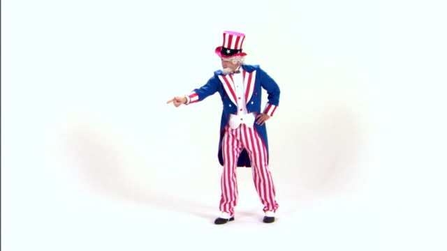 uncle sam pointing - uncle sam stock videos & royalty-free footage
