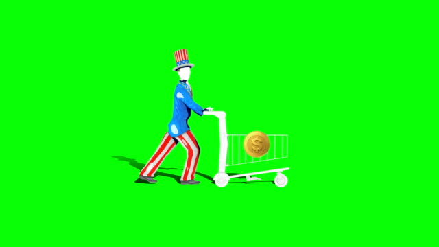 uncle sam shopping - uncle sam stock videos & royalty-free footage