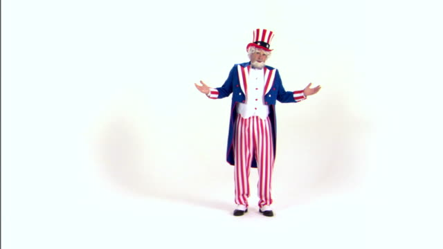 uncle sam shrugging - uncle sam stock videos & royalty-free footage