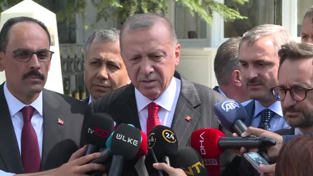 undaunted, turkey will continue its fearless struggle against terrorism, said president recep tayyip erdogan on friday. speaking in istanbul after... - istanbul province stock videos & royalty-free footage