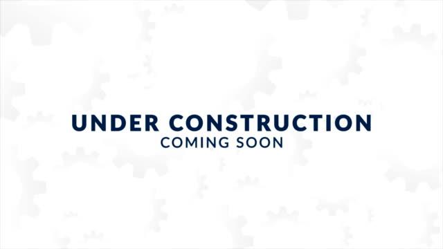 under konstruktion webbplats animation - felmeddelande bildbanksvideor och videomaterial från bakom kulisserna