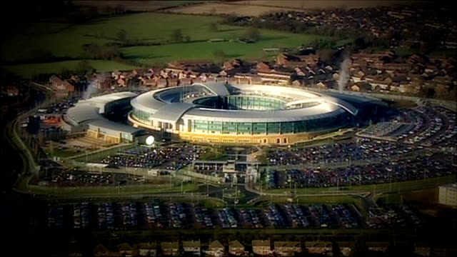 gchq under pressure to explain their access to american mobile phone data lib 2012 exact date unknown cheltenham gchq government communications... - gloucestershire stock videos and b-roll footage