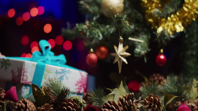 under the christmas tree - christmas tree stock videos & royalty-free footage