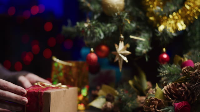 under the christmas tree - below stock videos & royalty-free footage