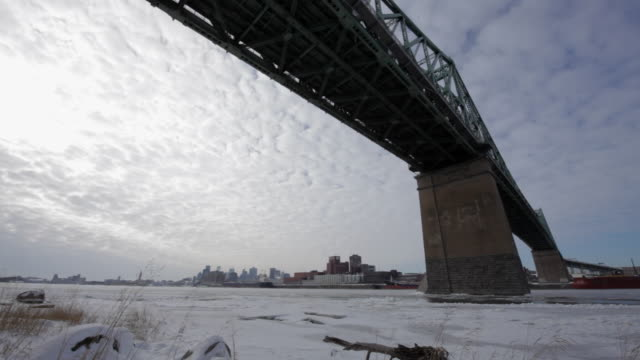 under the jacques-cartier bridge in montreal - quebec stock videos & royalty-free footage