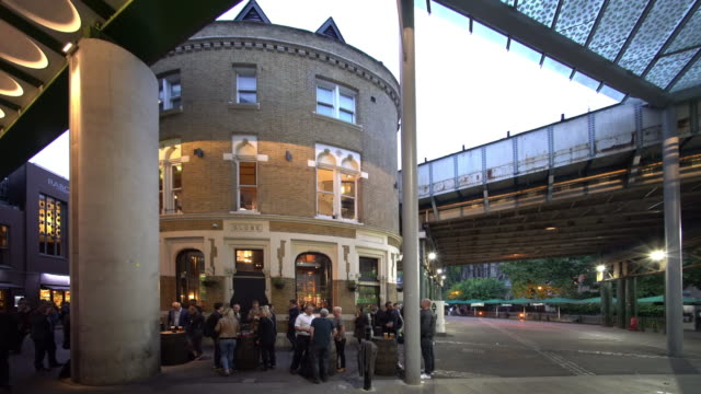 under the railway arches near borough market is the pub - pub stock videos & royalty-free footage