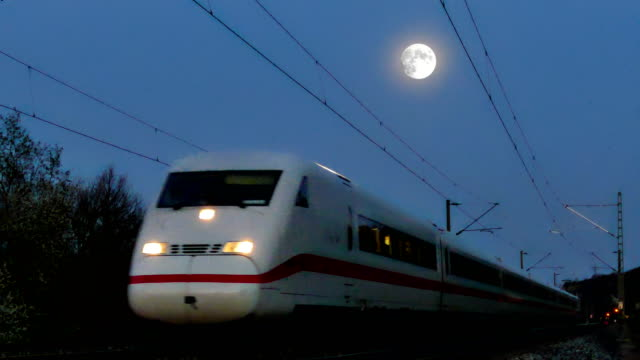 ice under the supermoon - high speed train stock videos & royalty-free footage