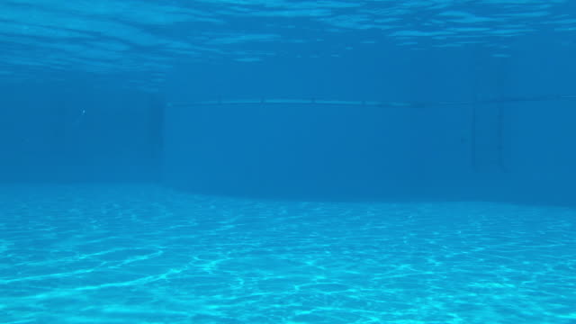 under the swimming pool with tripod - refraction stock videos & royalty-free footage