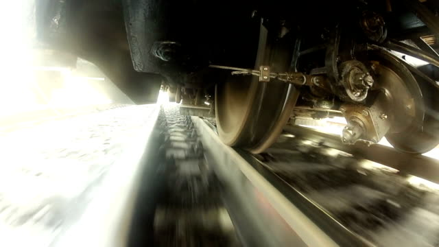 under the train - wheel stock videos and b-roll footage